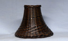 銅製竹籠形容器(丁半賭博の壺か)   江戸時代   珍品