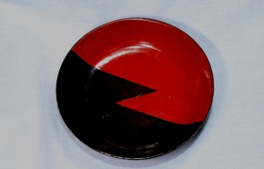 赤黒塗分小皿(平盃)1   江戸時代