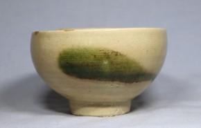 献上唐津緑釉茶碗   江戸時代中期~後期