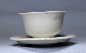 李朝白磁明器碗と皿セット(1-1)  5組   李朝時代初期