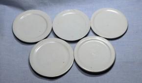 李朝白磁明器碗と皿セット(1)  5組   李朝時代初期
