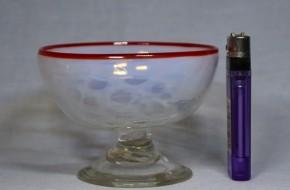 金赤縁乳白暈し玉文様氷コップ(2)    明治~大正時代  本物保証