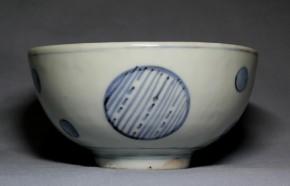 古伊万里くらわんか丸文茶碗   江戸時代中期