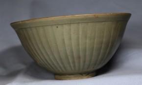 中国耀州窯青磁鎬文茶碗   北宗時代(960~1127)