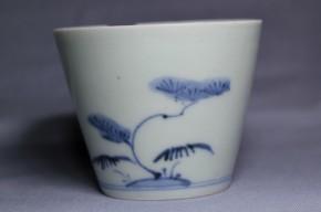 古伊万里松梅竹文蕎麦猪口(223)   江戸時代中期  本物保証