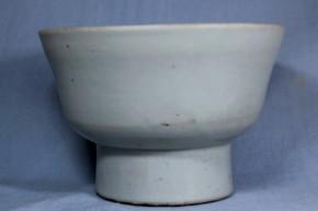 李朝高台白磁茶碗   李朝時代後期  祭器か