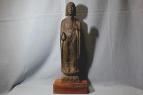 高麗石製如来立像(1)  12~13世紀  台座付