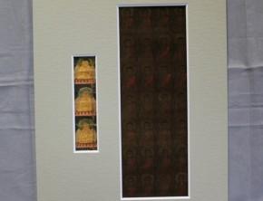 胎蔵界曼荼羅断片(2) 2点   鎌倉~南北朝時代額入  (前面アクリル板)
