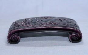紫交趾波馬(兎)文墨床   18~19世紀