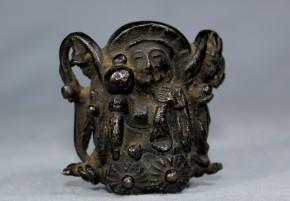 銅製三面大黒天像   桃山~江戸時代初期