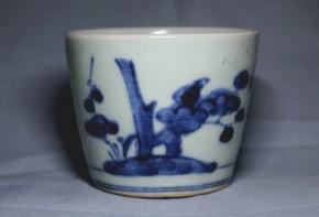 古伊万里梅竹文蕎麦猪口(176)   江戸時代中期