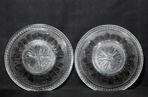 プレスプレート剣先文小皿 2枚  明治時代