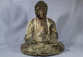 木彫漆箔阿弥陀如来坐像   鎌倉時代