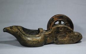 木彫墨壺(14)   江戸時代