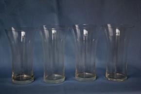 透明ガラスビールコップ  4個   明治~大正時代