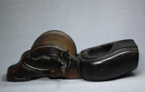 木彫墨壺(15)   江戸時代