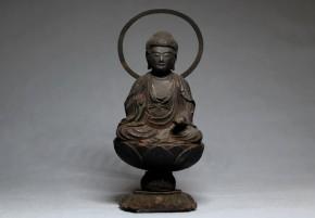 木彫阿弥陀如来坐像   江戸時代