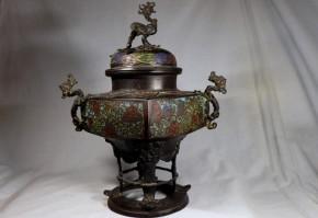 銅製七宝大香炉(1)  元~明時代