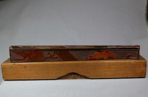 鎌倉彫扇形矢立(1)   鎌倉~室町時代
