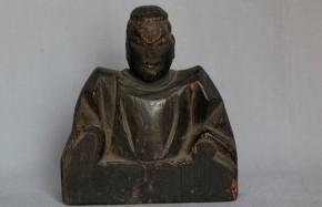 木彫男神像  室町~桃山時代