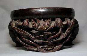 木彫漆塗り鈴台   江戸時代