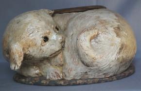 志野焼犬形手焙り火鉢(1)   江戸~明治時代
