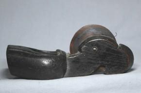 木彫墨壺(3)   江戸時代