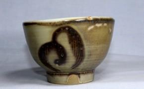 辰砂三柳文茶碗   20世紀