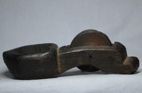 木彫墨壺(4)   江戸時代