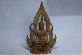 タイ国アユタヤ銅製釈迦如来坐像   14世紀