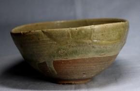青唐津茶碗(4) 掘りの手  桃山時代