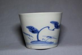 古伊万里松梅竹文蕎麦猪口(261)   江戸時代中期