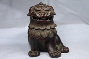 古銅獅子香炉   江戸時代