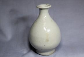 李朝小徳利(9) 白磁  李朝時代初期