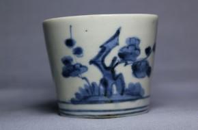 古伊万里梅竹文蕎麦猪口(220)   江戸時代中期  本物保証