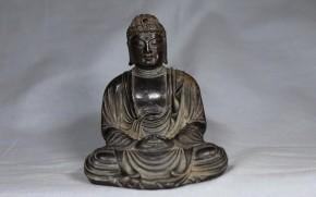 銅鍍金釈迦陀如来坐像   桃山~江戸時代初期