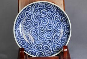 総蛸唐草文小皿(2)   江戸時代後期