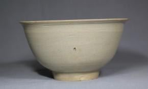 李朝白磁茶碗   李朝時代初期