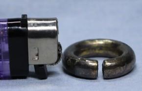 鍍銀製銀環(1)   古墳時代