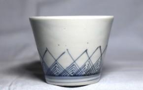 古伊万里交差草文蕎麦猪口(252) 江戸時代中期