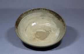 刷毛目平茶碗   江戸時代