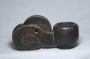 木彫墨壺(10)   江戸時代