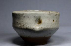 白唐津斑茶碗(1)   桃山時代  伝世品